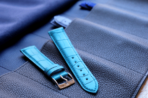 blue watch band alligator