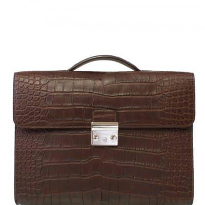 briefcase croco