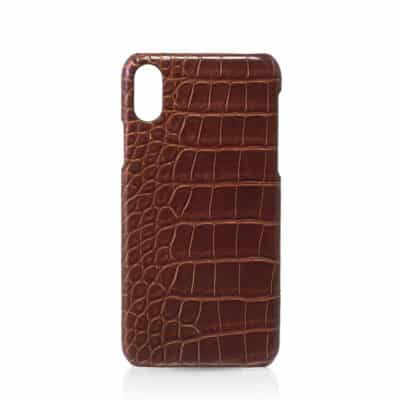 luxury iphone case alligator brown