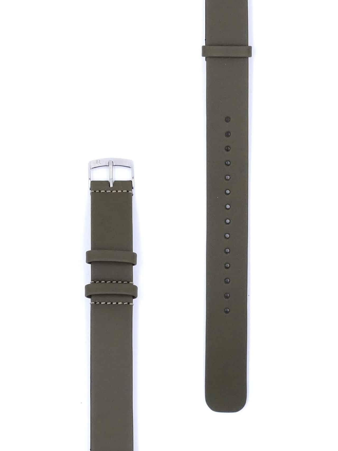 omega nato strap leather green