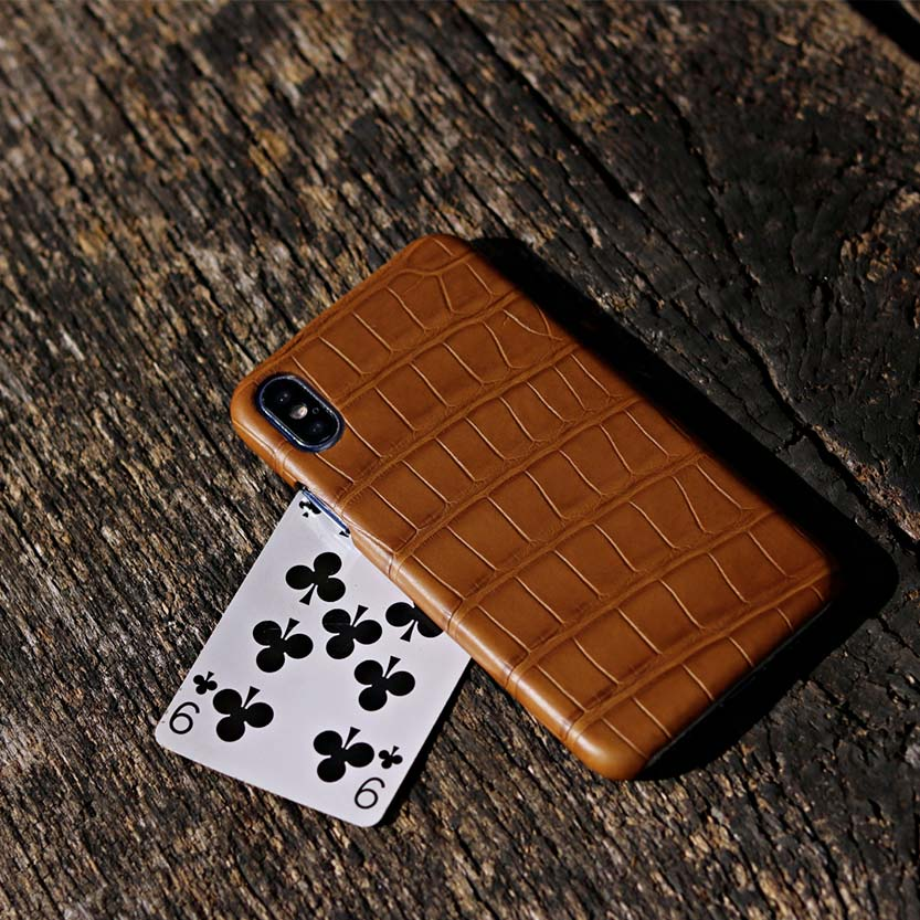 iPhoneX leather case