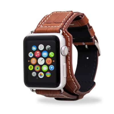 apple watch bands alligator brown