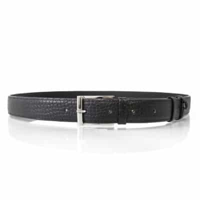 alligator belt black