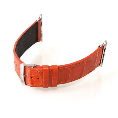 apple watch bands alligator orange