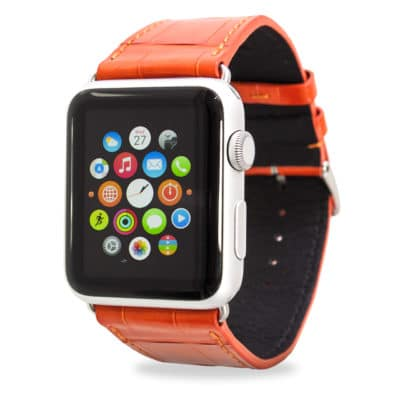 Apple watch straapple watch bands alligator orange p alligator