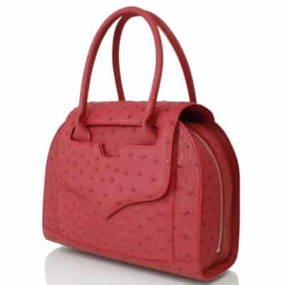 Handbag red ostrish