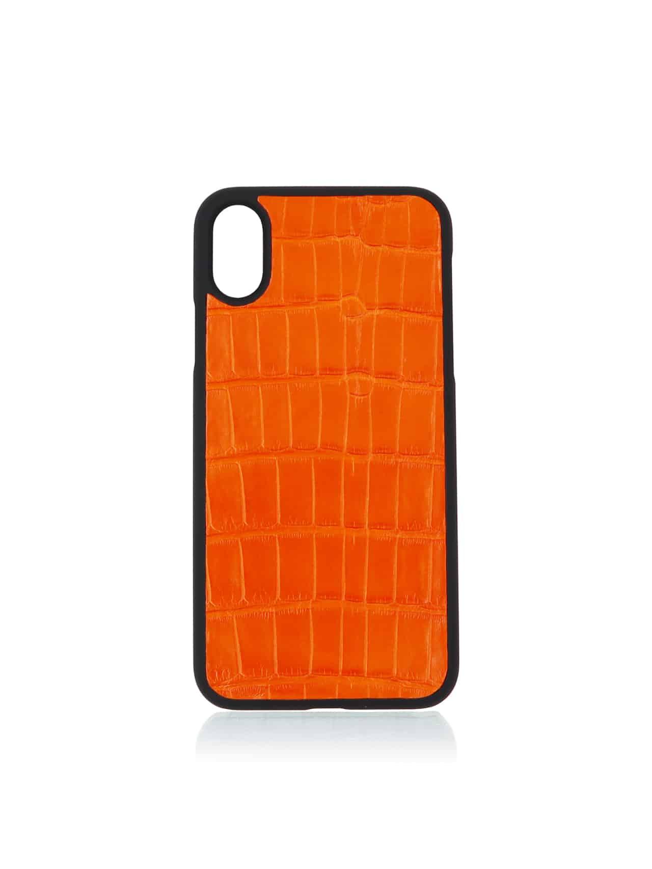 the best attitude 23aec 830bf iPhone X & Xs case orange alligator