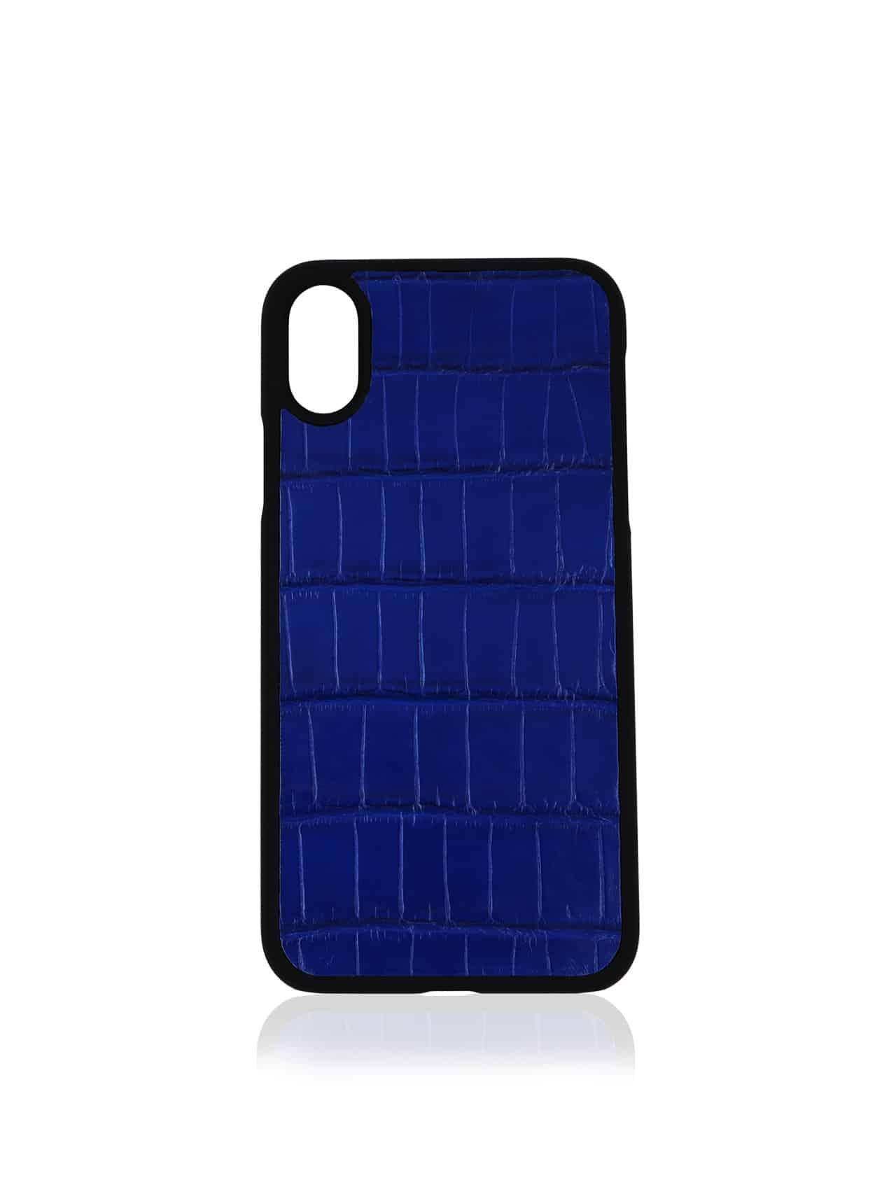 coque iphone xs bleu electrique