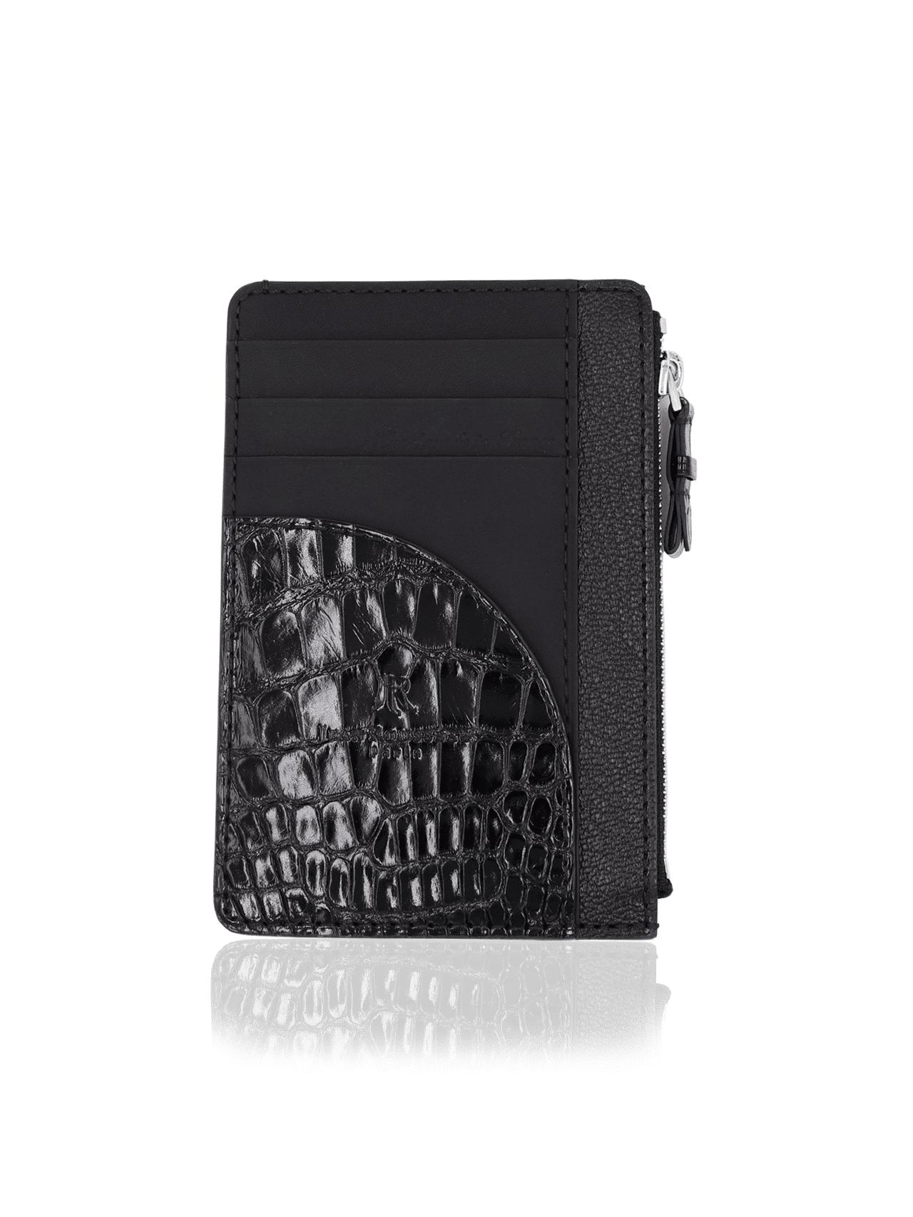 Easy wallet mix alligator black