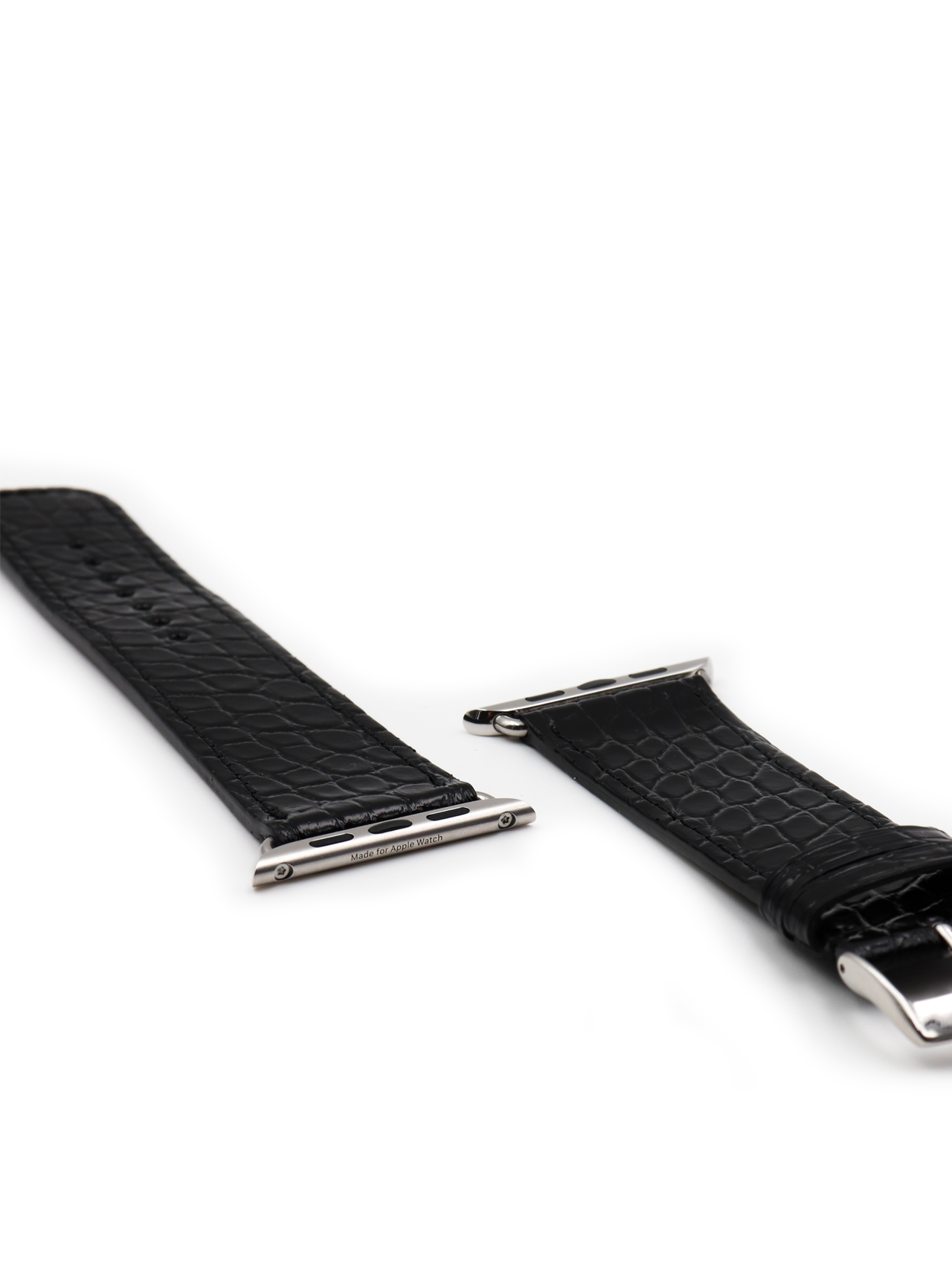 apple watch strap alligator black