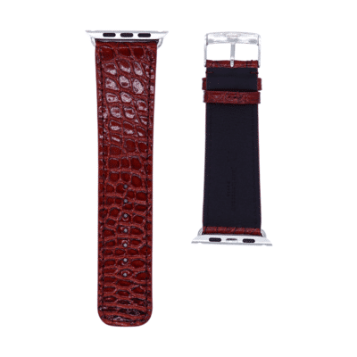 apple watch strap alligator burgundy