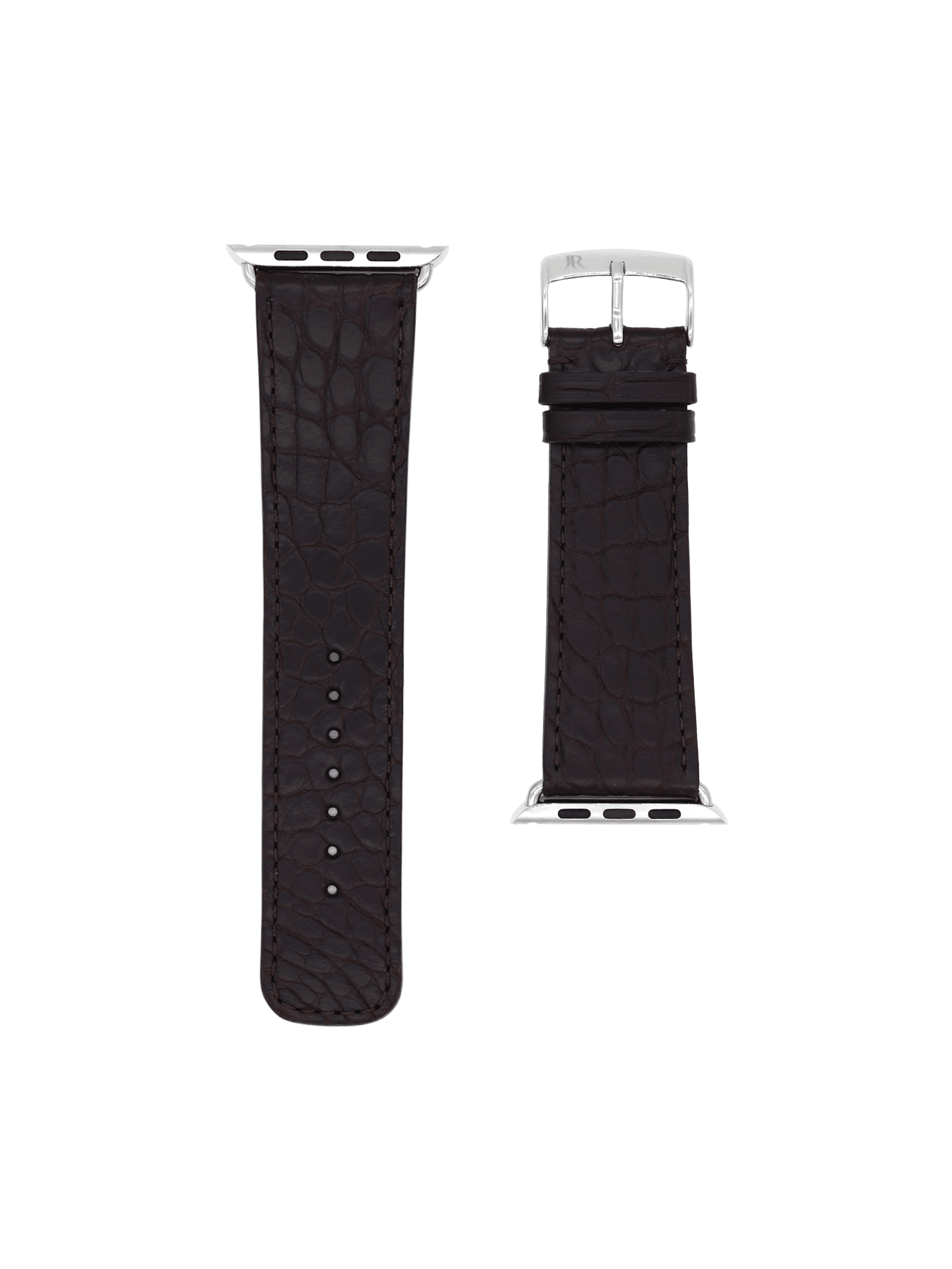 apple watch strap alligator brown