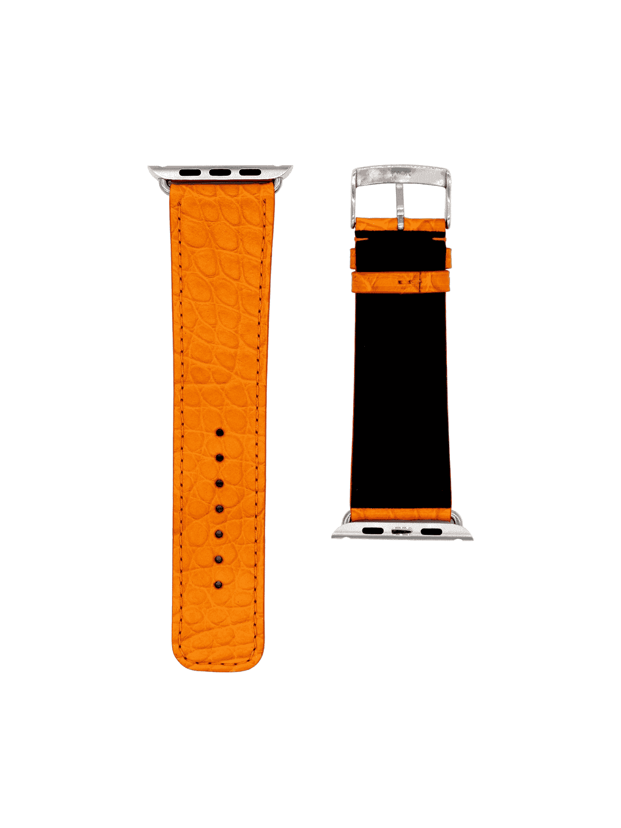 apple watch strap alligator orange