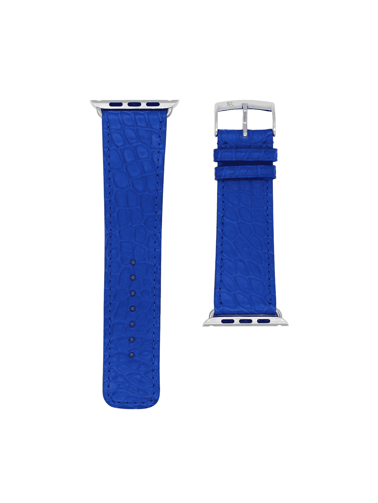 apple watch strap alligator blue