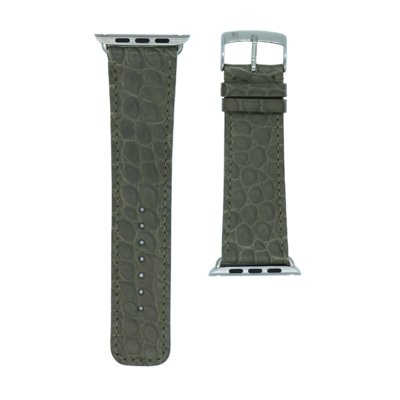 Apple watch strap green alligator