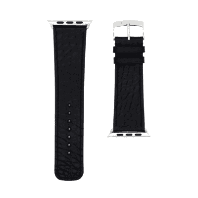 Apple watch strap black alligator