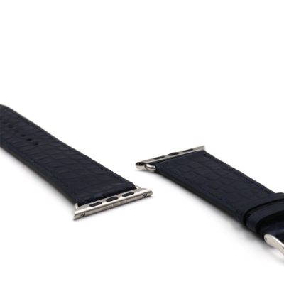 Apple watch strap blue alligator