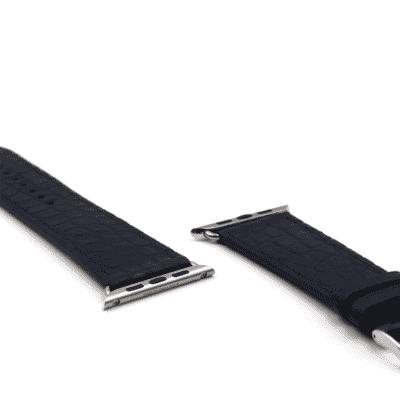 Apple watch strap blue alligator