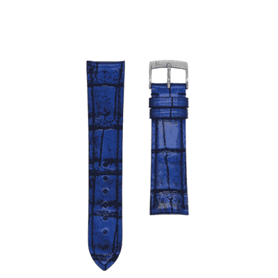 bleu watch strap alligator