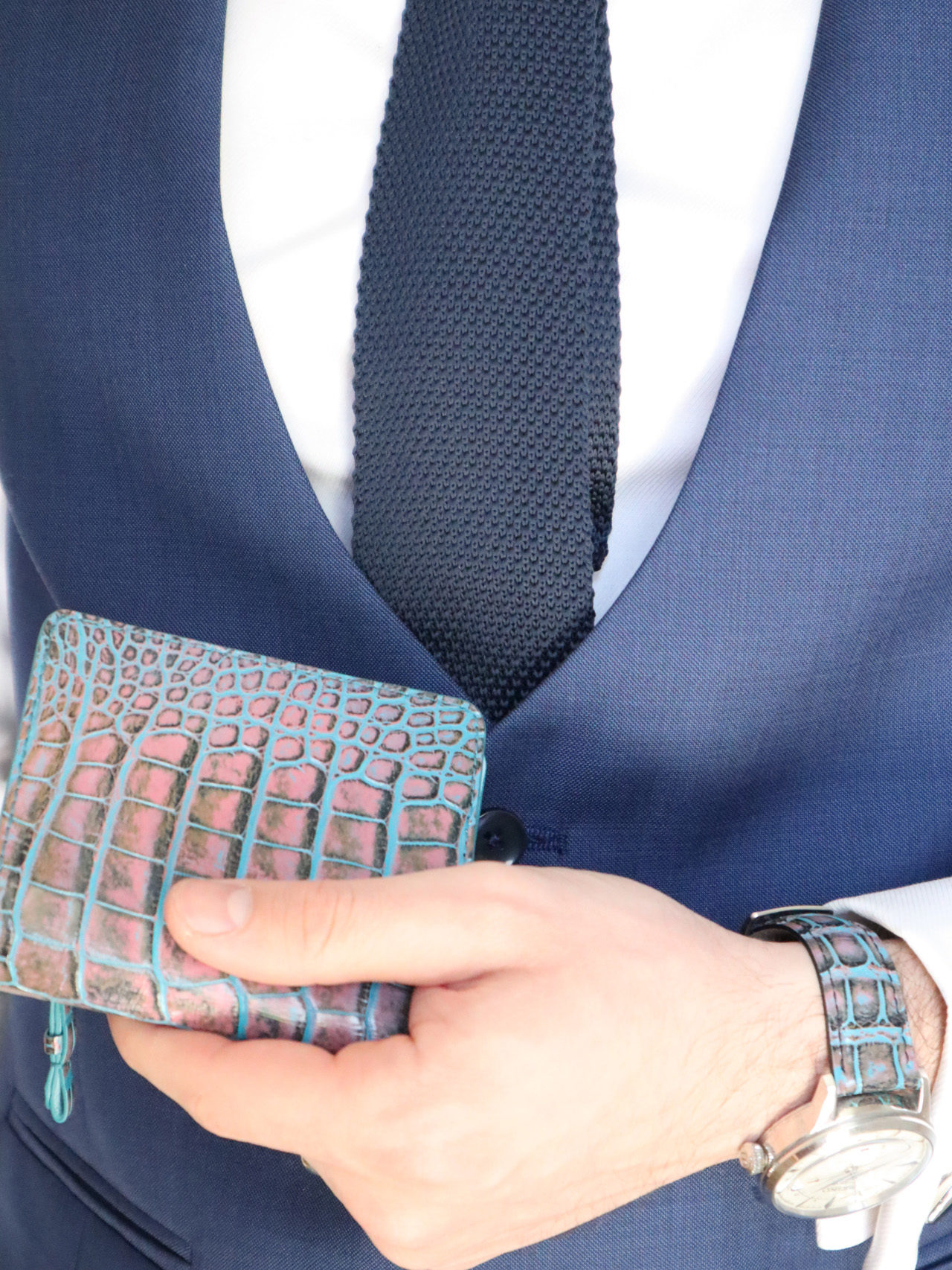 Alligator mini wallet