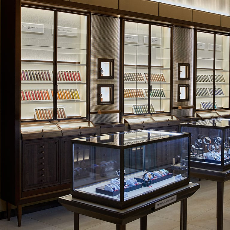 Harrods and Jean Rousseau Paris watch straps in the Fine Watches Department