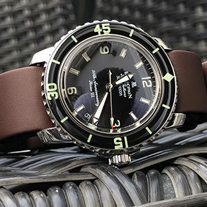 Blancpain Fifty Fathoms with brown calf NATO strap